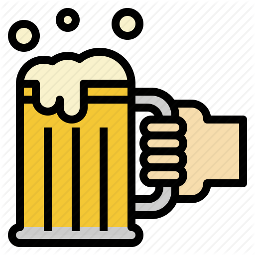 Beer, Hand, Holding, Mug Icon