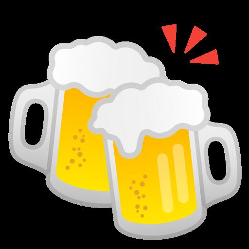 Clinking Beer Mugs Icon Noto Emoji Food Drink Iconset Google