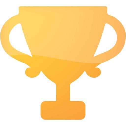 Web Orange Trophy Icon