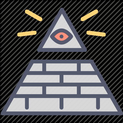 Eye, Masonry, Pyramid, Sauron Icon