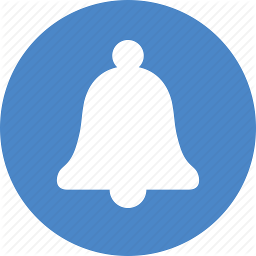 Alarm, Alert, Attention, Bell, Blue, Circle, Notification Icon