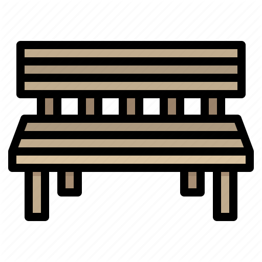 Bench, Chair, Furniture, Park Icon