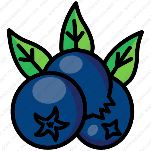 Download Berries,berry,blueberry,fruit Icon Inventicons