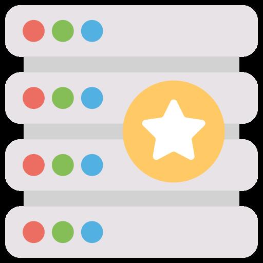 Best, Hosting, Server, Star, Web Icon