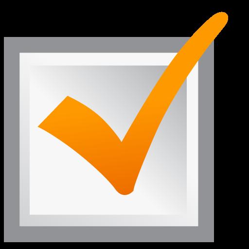 Ok Icon Orange Check Mark