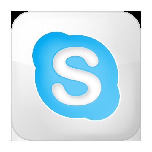 Free Icons Social Skype Box White Yootheme