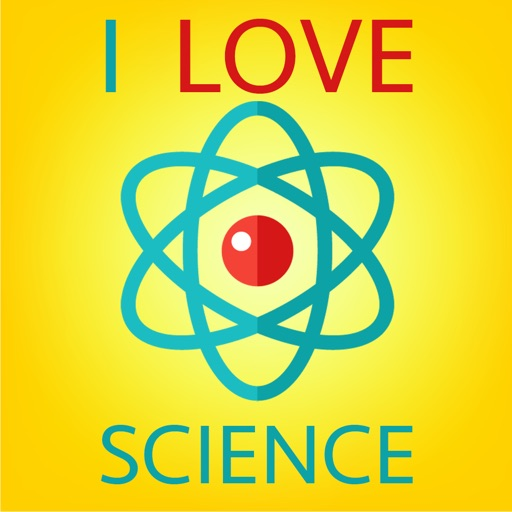 I Love Science Icons Sticker Pack