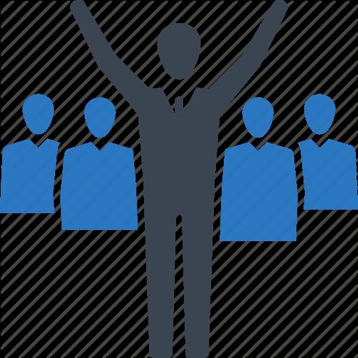 Teamwork Leader Winner Icon