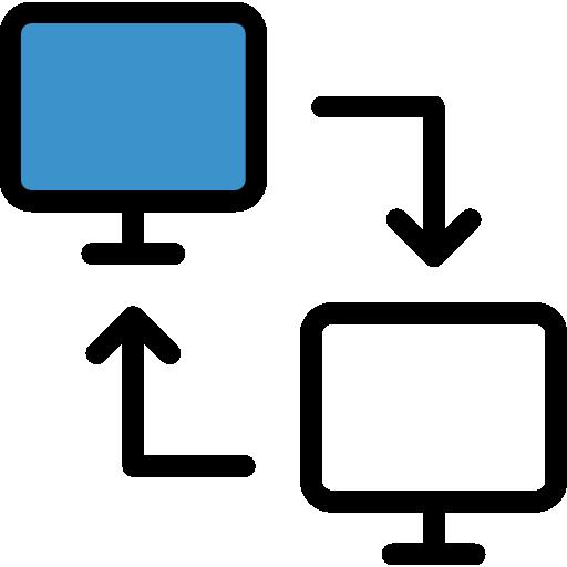 Transfer Flat Black Icon