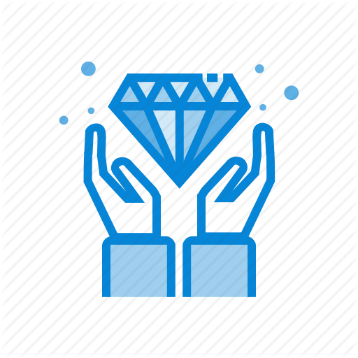 Diamond, Gemstone, Hands, Value Icon