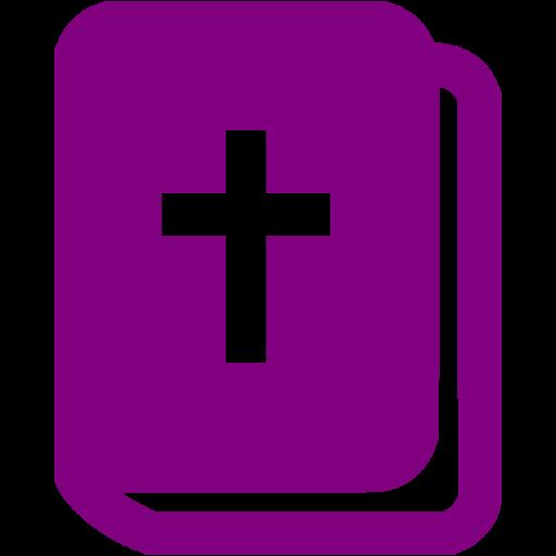 Purple Holy Bible Icon