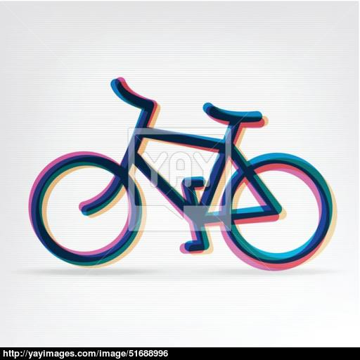 Colorful Bicycle Icon Vector, Vector