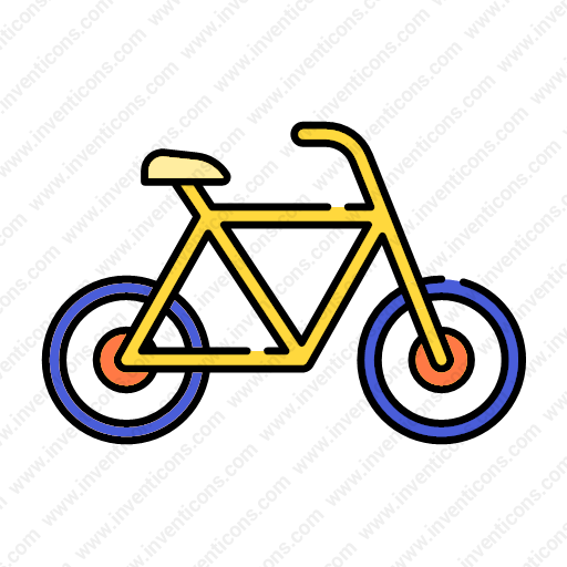 Download Transport,bicycle,lineal,color Icon Inventicons