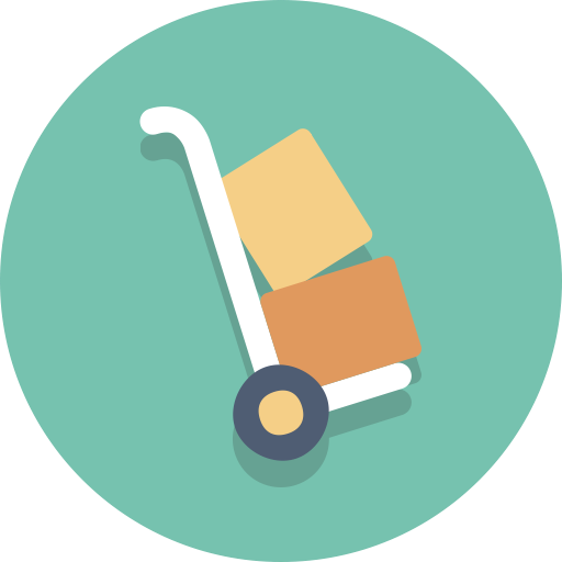 Dolly, Packages, Delivery Icon
