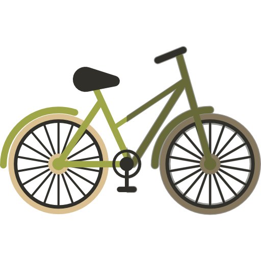Bicycle, Transport, Exercise Icon