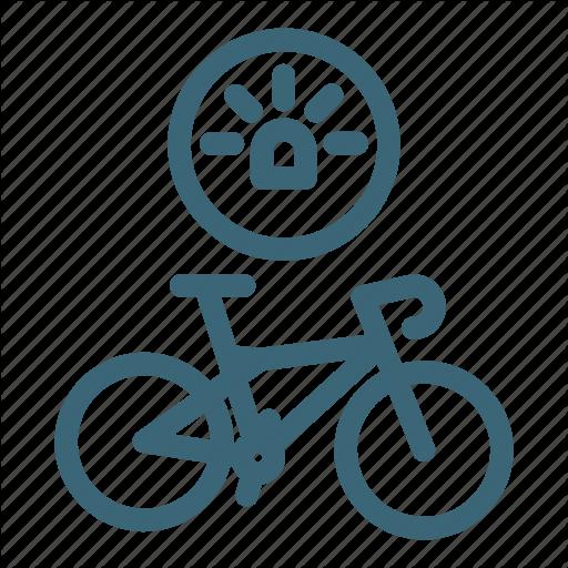 Bicycle, Bike, Light, Road, Sport, Travel, Wheel Icon