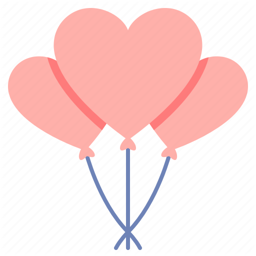 Balloon, Balloons, Heart Balloon, Hearts Icon