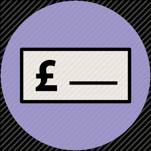 Bank Receipt, Bank Slip, Bill, Invoice, Pound Sign, Voucher Icon