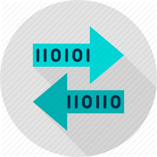 Binary, Bit, Byte, Computer, Technology, Transaction, Transfer Icon