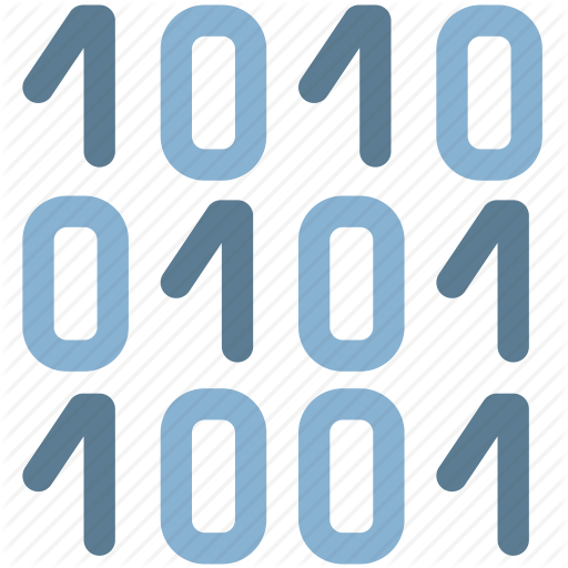Binary, Bits, Code, Digital Icon