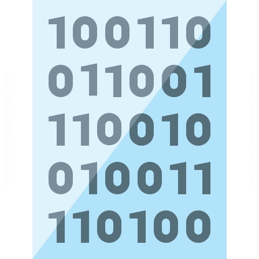 Iconexperience G Collection Text Binary Icon