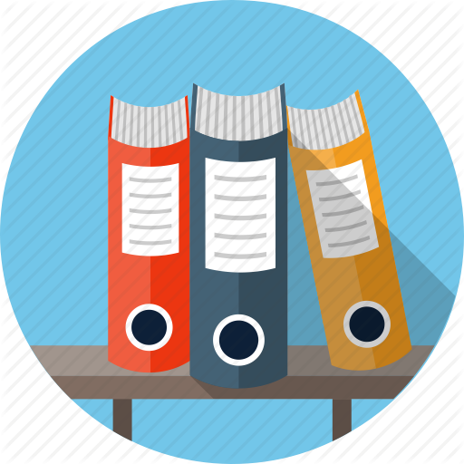 Archive, Binder, Database, File, Folder, Ring Binders Icon