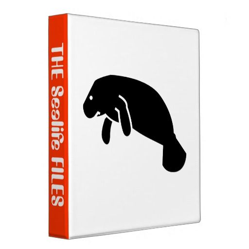 Black Manatee Icon,logo Graphic Silhouette Vinyl Binders