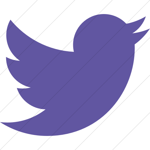 Simple Purple Raphael Twitter Bird Icon