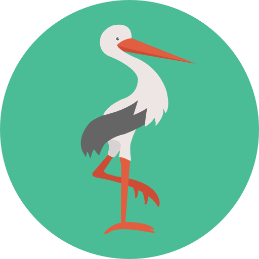 Kid And Baby, Bird, Baby, Animals, Stork, Newborn, Birth Icon