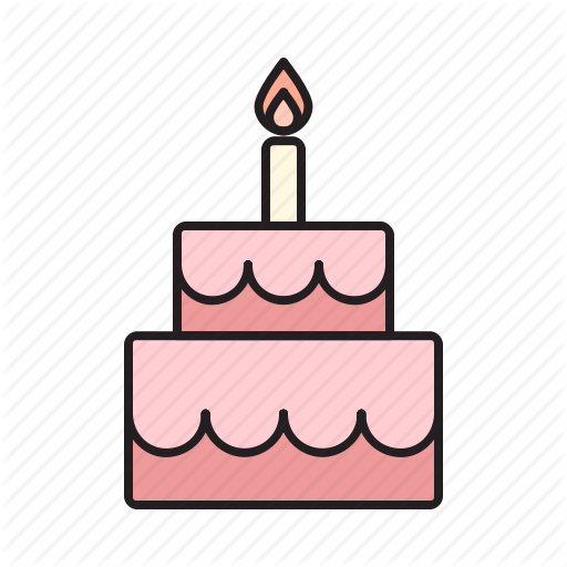 Birthday, Cake, Celebrate, Food, Sweet, Sweets, Tart Icon