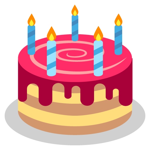 Birthday Cake Emoji Vector Icon Free Download Vector Logos Art