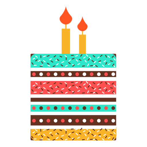 Flat Birthday Cake Icon