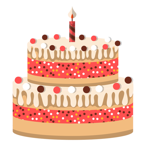 Two Floors Birthday Cake Icon