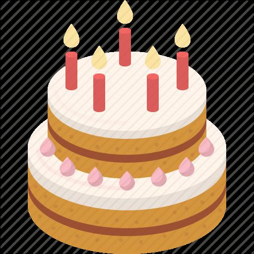 Bakery, Birthday, Cake, Cream, Dessert, Party, Sweet Icon