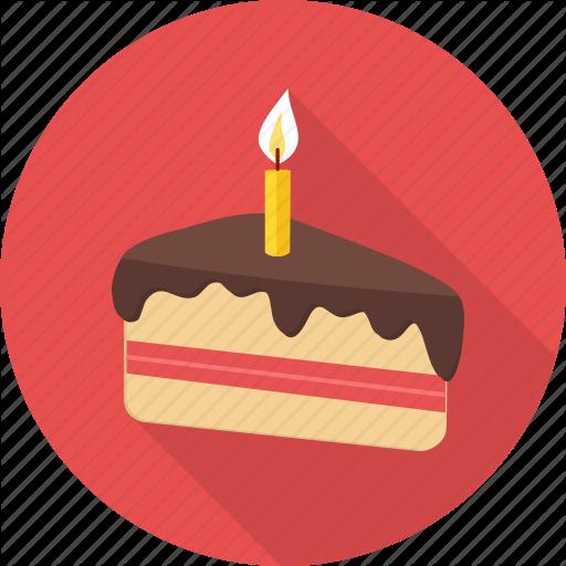 Birthday, Cake, Candle, Dessert, Happy Birthday, Pastry, Sweet Icon