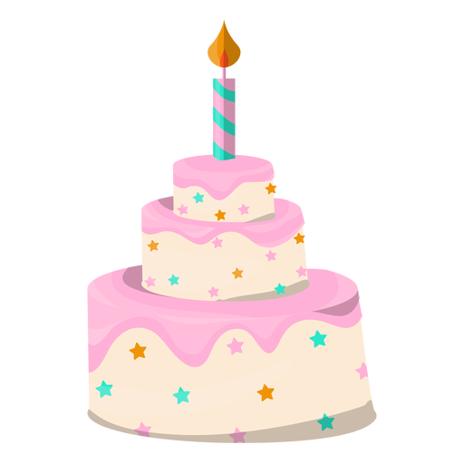 Birthday Cake Illustration Dessert