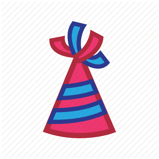 Birthday, Hat, New Year Icon