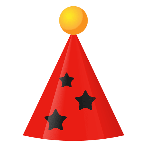 Red Birthday Hat Icon