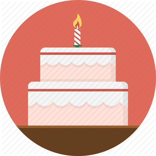 Birthday Cake, Cake, Candle, Dessert Icon