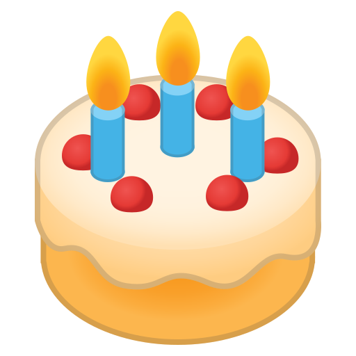 Birthday, Cake, Food, Dessert Icon Free Of Noto Emoji Food