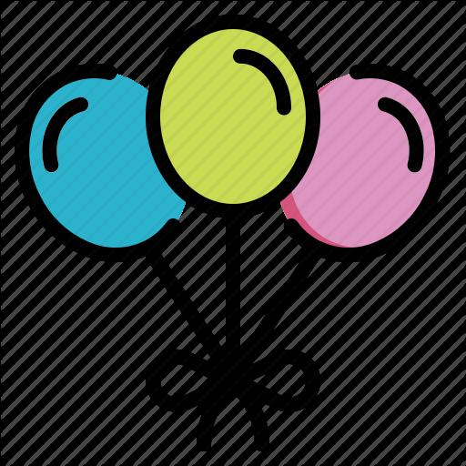 Balloon, Birthday, Celebration, Decoration, Party Icon