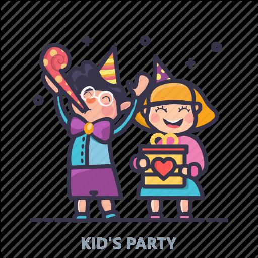 Birthday, Cakes, Celebration, Event, Kids, Lights, Party Icon