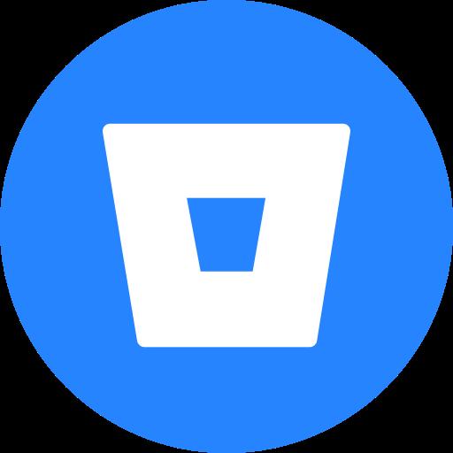 Bitbucket, Circle, Round Icon Icon