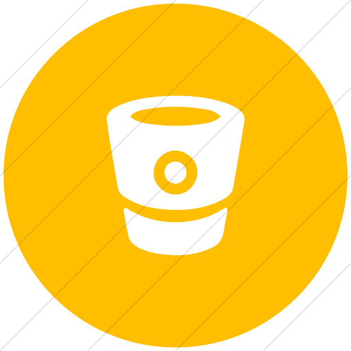 Flat Circle White On Yellow Bootstrap Font Awesome