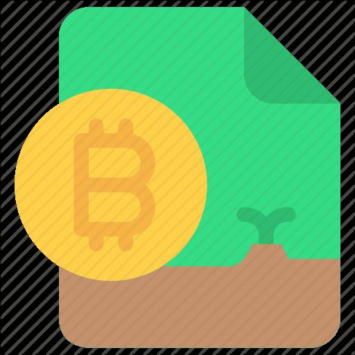 Bitcoin, Cash, Cryptocurrency, Document, Money Icon