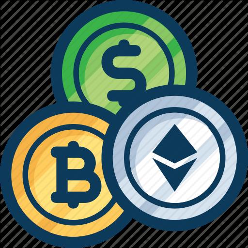 Bitcoin, Coin, Cryptocurrency, Dollar, Etchyrium, Exchange, Trade Icon