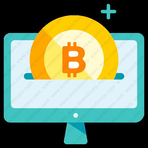 Download Bitcoin,insert Icon Inventicons