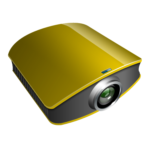 Projector Gold Icon Projector Iconset Ntdesigns