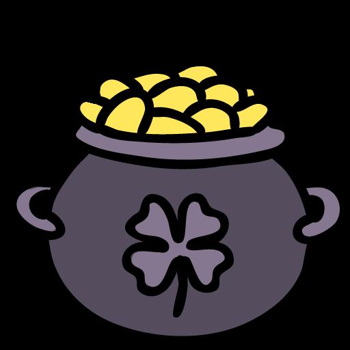 Pot, Of, Gold Icon Free Of Lucky Leprechaun