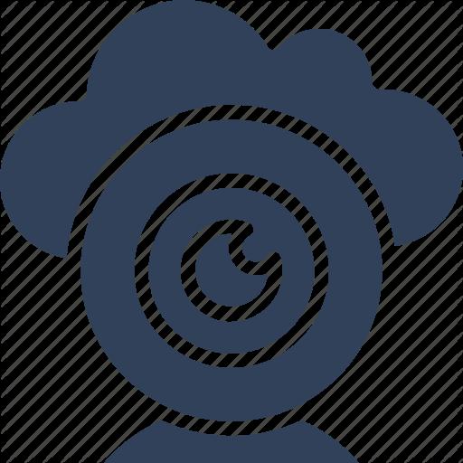 Cloud Camera, Live Chatting, Online Multimedia, Web Camera Icon